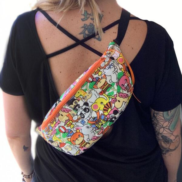 konichiwa fanny pack, chest pack, mini backpack